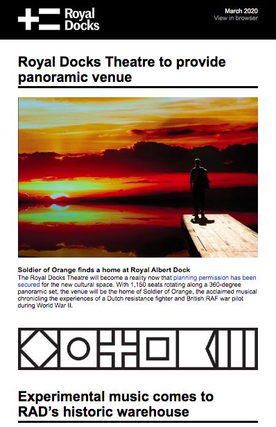royal docks newsletter march 2020